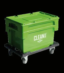 Clean Box Mobile s vekom, ponorným košíkom a vozíkom brzdami